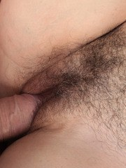 Flabby amateur female gets her hairy bush stuffed with cock
