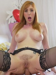 Hot redhead Lauren Phillips has her filthy asshole pumped full of sperm