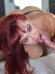 Older Latin pornstar Sexy Vanessa goes 1 on 1 with a younger man