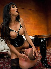 Kinky Asian shemale Yasmin Lee having fun with BDSM and fucking hard