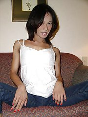 Skinny young shemale have a hot naked body and awesome dick!