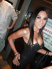 Busty Thai shemale Mon has a huge set of transsexual breasts