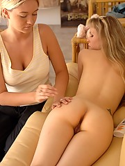 Fiona Luv gets ass rubbed by Alison