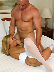 Rio getting fucked in sexy white stockings by her personal trainer