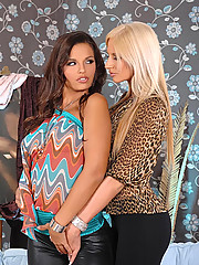 Hot babes Bambi amp Eve Angel having lesbian sex with toys