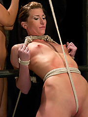 Ariel X gets abused by Matt Williams and Isis Love in a live BDSM event only on Hogtied!