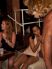 Horny girl gets crazy sucks and fucks in front of all her friends
