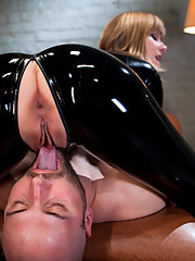 David confesses his masturbation fantasies to Maitresse Madeline and she takes advantage