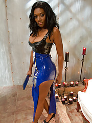 Amazon African Goddess Nyomi Banxxx dominates white bitchboy making him worship her
