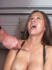 HotWifeRio is forced to suck on a  cock and  to eat  cum while she is tied up
