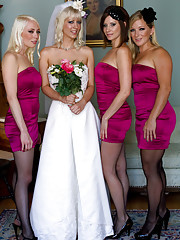 Cherry Torn gets hijacked by her bridesmaids bound ripped from her wedding dress