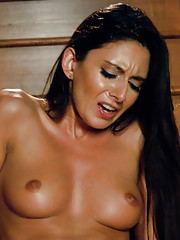 MILF machine fucked! Her large clit suctioned tight to a bullet vibe with the sybian