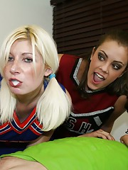 Bratty cheerleaders Barbi Katie and Hailey love a little competition. When they spot