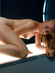 Ginger babe with muscly body and powerful orgasms fucks until she needs a nap. Her
