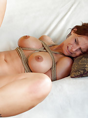 A Taboo Milf Fantasy Ass Fucked in Bondage by Adopted Son!