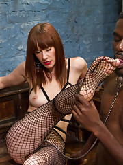 Maitresse Madeline pushes new slaves buttons with heavy corporal wicked prostate