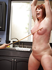 Kinky lesbian couple live out a kinky fantasy filled with punishment and rough sex