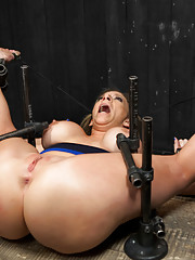 Orlando returns to torment amazing flexible MILF Sara Jay with sybians hand held