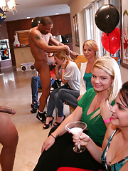 This party girl gets her tight pussy stretched in the kitchen