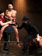 Mia returns for her painful and action packed Live Show with leather strap suspension