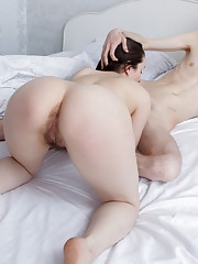Hairy Tri gets penetrated when she is home alone