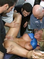 Big tittied blonde has her limits pushed in public. Groped and smacked by strangers