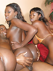 Pimp bust out his bevy of whores for some hard fuckin039