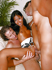 Exotic lovely asian really knows how to turn these guys on