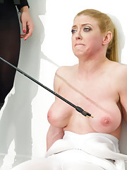 Darling plays role of ELECTRO 4197 where she is viciously shocked inside tied up