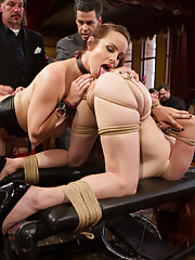 When Anal Slut Penny Pax comes to the Upper Floor she is Presented to Serve the Brunch