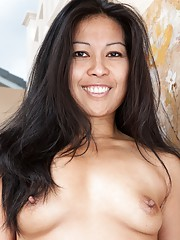Max Makita shows her hairy pussy around house