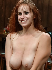 Everyones favorite big tittied ginger fucked in the ass in public!