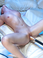 Haunted Armory sex - sorority babe fucked by possessed machines in a creepy bedroom-