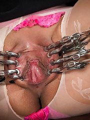 Vivi Marie proves her devotion to pain as Mz. Berlin single tails shocks clamps and