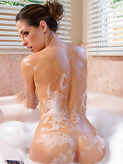Kortney Kane is taking a nice bath and decides to suck and fuck her husbands cock