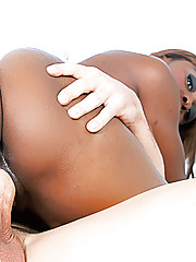 Saucy black MILF Coco Pink seduces and fucks a younger stallion
