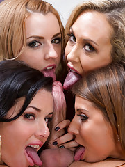 Lucky guy fucks all the hot women in his office at the same time.