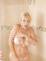 Charlee Chase fucks her sons friend after a hot shower