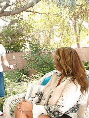 Big breasted MILF Lisa Lipps gets fucked outside by younger cock and loves the fucking