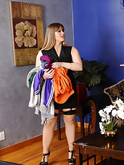 Busty MILF Holly Heart is not a slave so she decides to fuck her sons friend on the