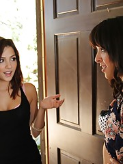 2 sexy neighbors are both horny and have hot lesbian session.