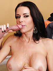 Veronica Avluv decides to fuck one of her sons friends and ride his cock.