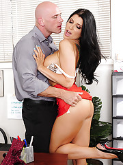 Gorgeous Romi Rain has hot sex with a co worker and she loves his thick cock in her