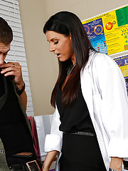 India Summer is a hot teacher and she decides to fuck one of her students while no