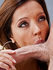 Horny teacher Francesca L233 fucks and sucks her  students hard cock.