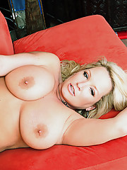 Hot blonde milf with huge tits gets filled with a big cock