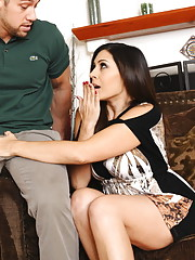 Gorgeous Raylene is sad and feels younger cock and wants to be fucked by it.
