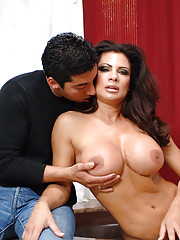 Busty MILF Teri Weigel is in the tub and is horny for younger cock so she seduces