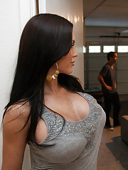 Busty hot Jenna Presley fucks stranger and makes him fuck her rough.