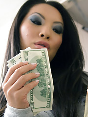 Sexy asian babe Asa Akira has great rough sex with big cocked client of hers.